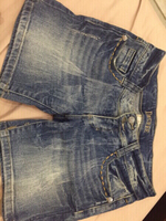 Used Jean shorts worn once from America  in Dubai, UAE