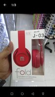 Used J-03 Fold Stereo headset Red color in Dubai, UAE