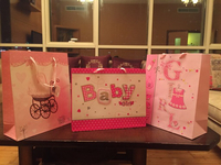 It's a bay girl paper gift bag 3pc