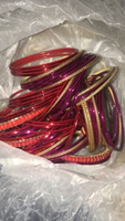 Used Red and purple bangles & earring set!! in Dubai, UAE