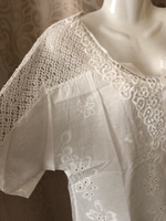 Used Light summer embroidered top size L in Dubai, UAE
