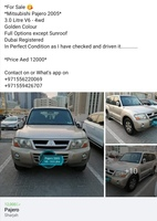 Used Pajero 4wd in Dubai, UAE