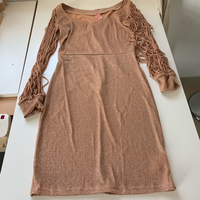"Metallic Coffee-colored ""sequined"" dress"