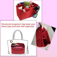 Used Bag in bag organizer,  red color new in Dubai, UAE