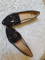 Used Women's black loafers Size 37-brand new in Dubai, UAE