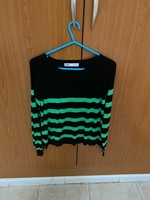 Used Zara black and green top in Dubai, UAE