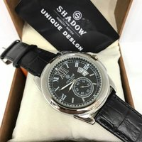 Used Shadow mens leather band watch in Dubai, UAE