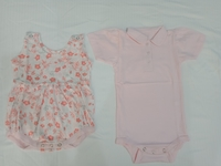 Used Baby girl summer rompers organic cotton in Dubai, UAE