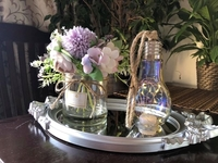 Used Silver centerpiece with lighting bulb in Dubai, UAE