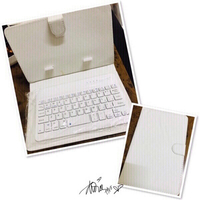"Used 7"" Keyboard Bluetooth with Case white ♏️ in Dubai, UAE"