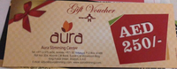 Used 250 dhs Gift voucher aura slimming cente in Dubai, UAE