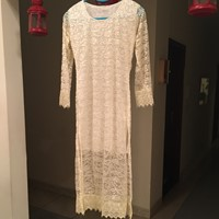 Used Cream White Net Long Top in Dubai, UAE