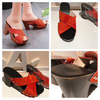 Used Croos strap chunky heel Sandals size 40  in Dubai, UAE