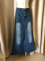 Used Jeans skirt size 32 stretch  in Dubai, UAE