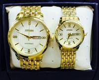 Big Deal!!!Gold Color With White Dials Citizen Couple Watch - Brand New