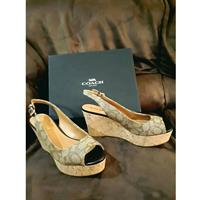 Used Coach Shoes used once with its box in Dubai, UAE