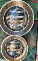 Used Ceramic  beautiful design plates 7 pcs in Dubai, UAE