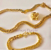 Used Men's Dragon Gold Plated Jewelry Set in Dubai, UAE