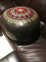 Used Morrocan poof in leather  in Dubai, UAE
