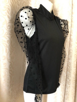 Fashion tulle arm top size S UK 8