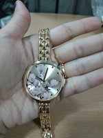 Used Floral Print Rose Gold Womens Watch in Dubai, UAE