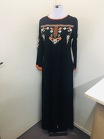 Maxi embroidered dress for her size S~M