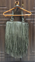 Shoulder bag w fringe tassels