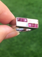 Used 925 silver ruby and mother of pearl ring in Dubai, UAE