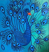 Used Peacock Acrylic Canvas Painting in Dubai, UAE