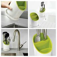 Kitchen Spoon N Knife Stand With Water Remover System