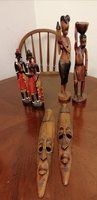 Used Wood Africans decoration 3 sets in Dubai, UAE