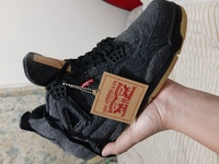 Used Jordan 4  x levis black 10.5US in Dubai, UAE
