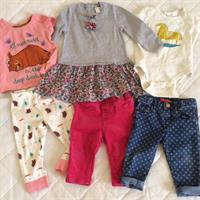 Monsoon Dress (6-12m), Baby Gap Onesie (6-12), Marks&spencer Grufallo Pyjamas (12m), Obaibi Red Trousers(12m), Zara Baby Jeans(9-12m). All Used But Very Good Condition. Hardly Word. Very Good Brands And Designs.