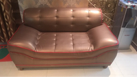 Leather couch with table for sale