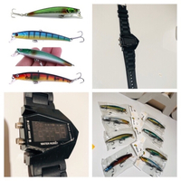 Used 8 pcs fish bait plus free watch 🎁 in Dubai, UAE