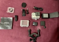 Used Go pro 4 hero good condition with LED  in Dubai, UAE