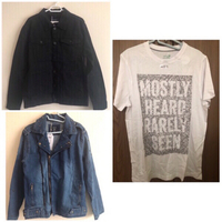 Used Trucker Jacket + Denim Jacket + T-Shirt  in Dubai, UAE