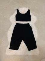 Used Size small cycling shorts and top set  in Dubai, UAE