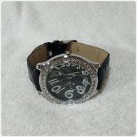 Black amazing watch for lady new