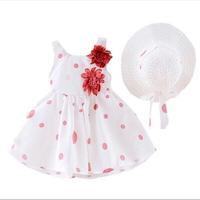 Patpat Toddler dress with hat 9-12M