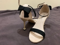 Used Pencil Heel Strap Suede Sandals in Dubai, UAE