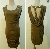 Dress Backless Brown Color Available Siz