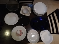 Used Kitchen dishes/red IKEA watch/red candle in Dubai, UAE