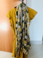 Used H&M yellow blouse with scarf in Dubai, UAE