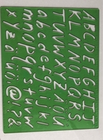 Used Set of 3 stencils alphabet themed in Dubai, UAE