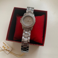 Silver rhinestone watch for ladies