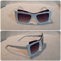 Used Fashionable White Sungglass for Women in Dubai, UAE