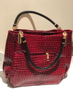 Used Red new Crocodile leather PU bag in Dubai, UAE