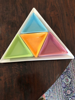 Used Triangle dish with four smaller dishes  in Dubai, UAE