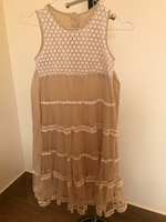 Used Brown and White Dress for Girls  in Dubai, UAE